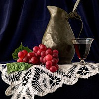 Still Life with Wine-Fiona Haughton-Ryton-2