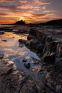 """Bamburgh Dawn"" by Robin Sinton"