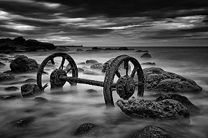 """Steel Wheels at Seaham"" by John McGuiness Tynemouth PS"