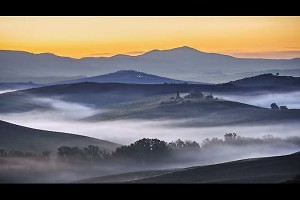 """Before Sunrise, Val d'Orcia"" by Sheila Coates"