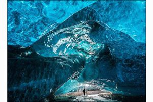 """Ice Cave With Figure"" by John Macfarlane"