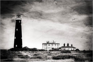 """Dungeness Old Lighthousel"" by Gerald Chamberlin Morton PS"